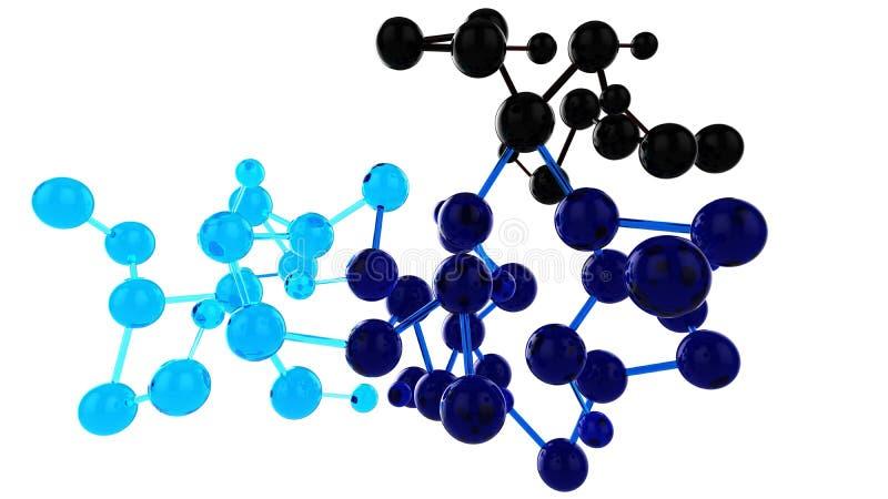 Red coloreada de las bolas de cristal stock de ilustración