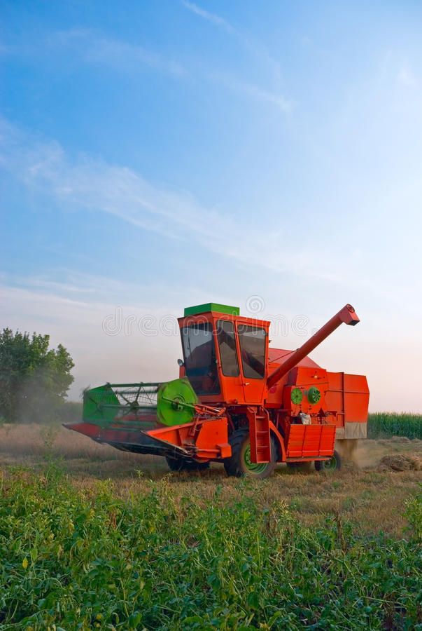 Download Red combine stock photo. Image of state, grain, fuel - 14151264