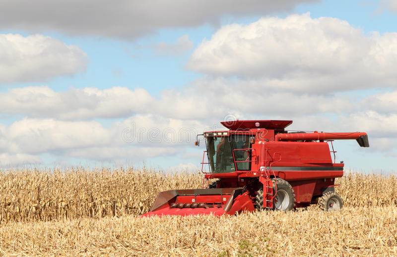 Red Combine stock image