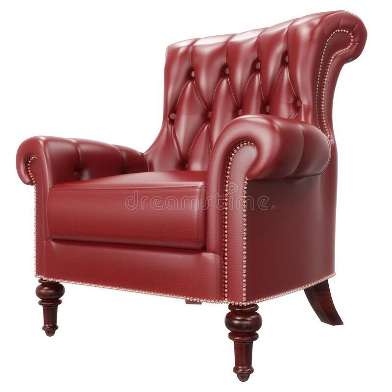 Free RedComfortable OfficeLeather Armchair Royalty Free Stock Photo - 187012415