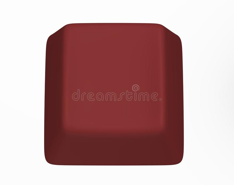 Red computer key royalty free stock photo