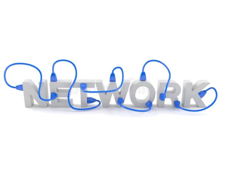 Red con el cable de la red stock de ilustración