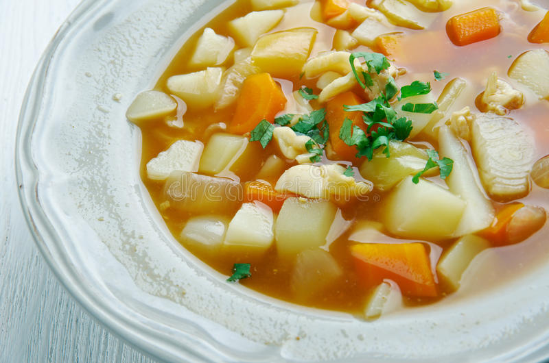 Red Conch Chowder. Bahamian Red Conch Chowder .Caribbean cuisine royalty free stock photo