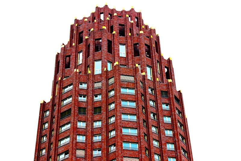 Red Concrete Building stock photo