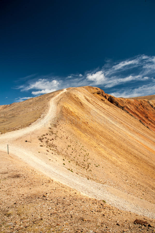 Red Cone Road. Road leading down from Red Cone, a one way four wheel drive road in the mountains of Colorado royalty free stock photography
