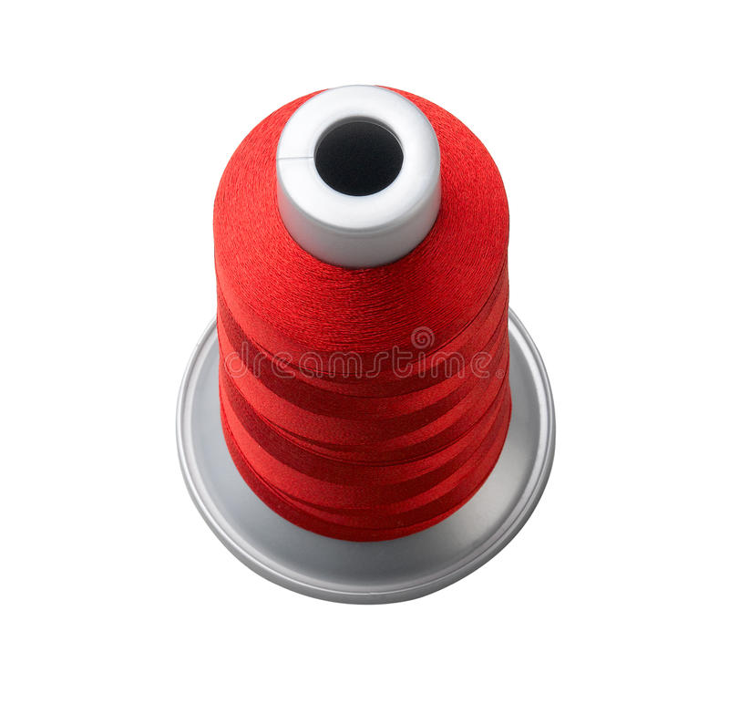 Download Red Cone Thread Isolated On White Stock Photo - Image: 19978898