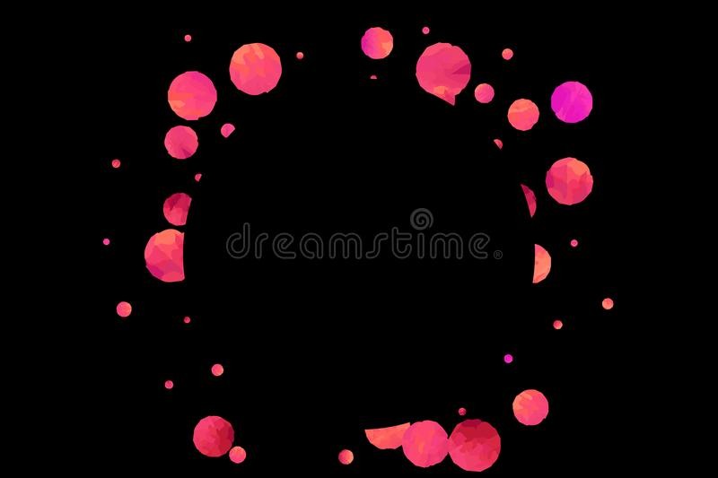 Red confetti background. royalty free illustration