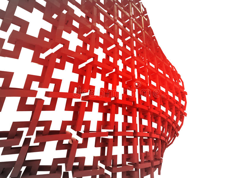 Red construction with bulge wallpaper. Illustration stock illustration