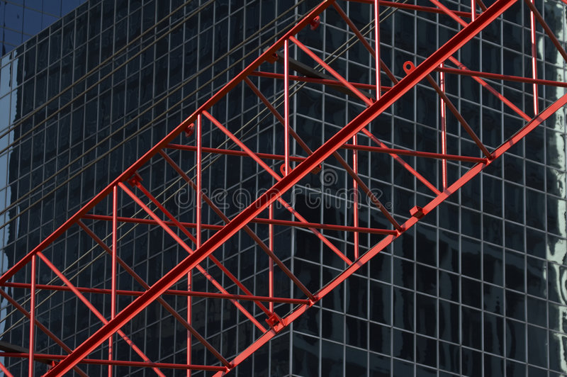 Download Red Construktion Cran In Front Of Office Building R03 Royalty Free Stock Photo - Image: 1411595