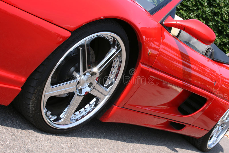 Red convertible sportscar royalty free stock photo