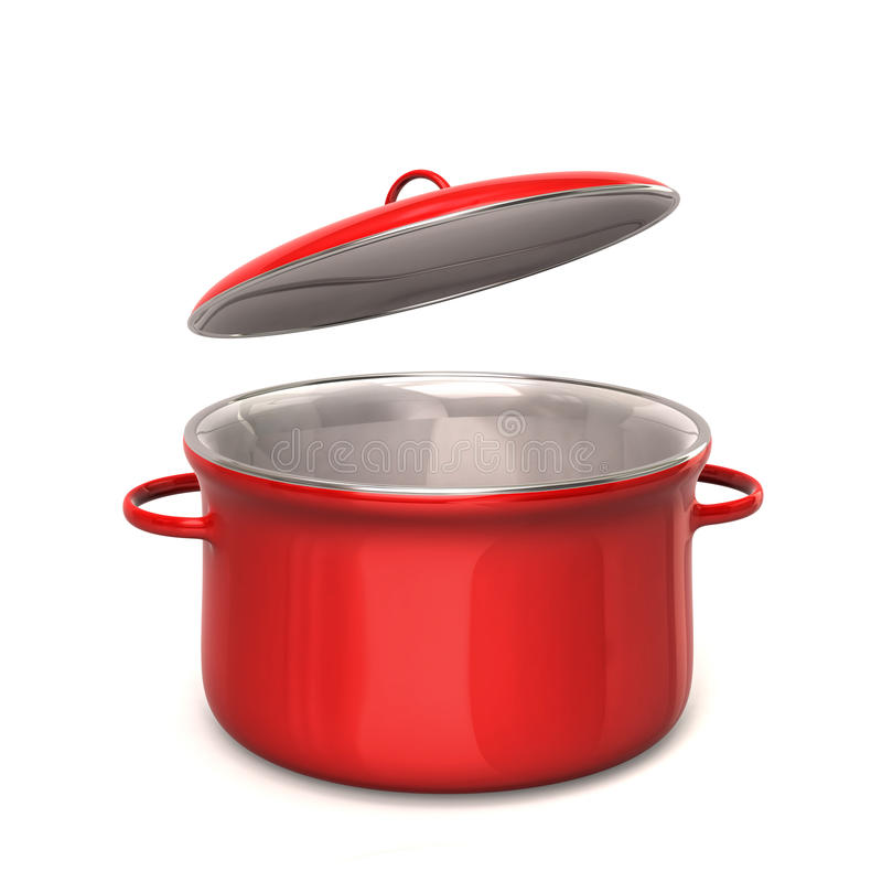 Red cooking pot royalty free illustration