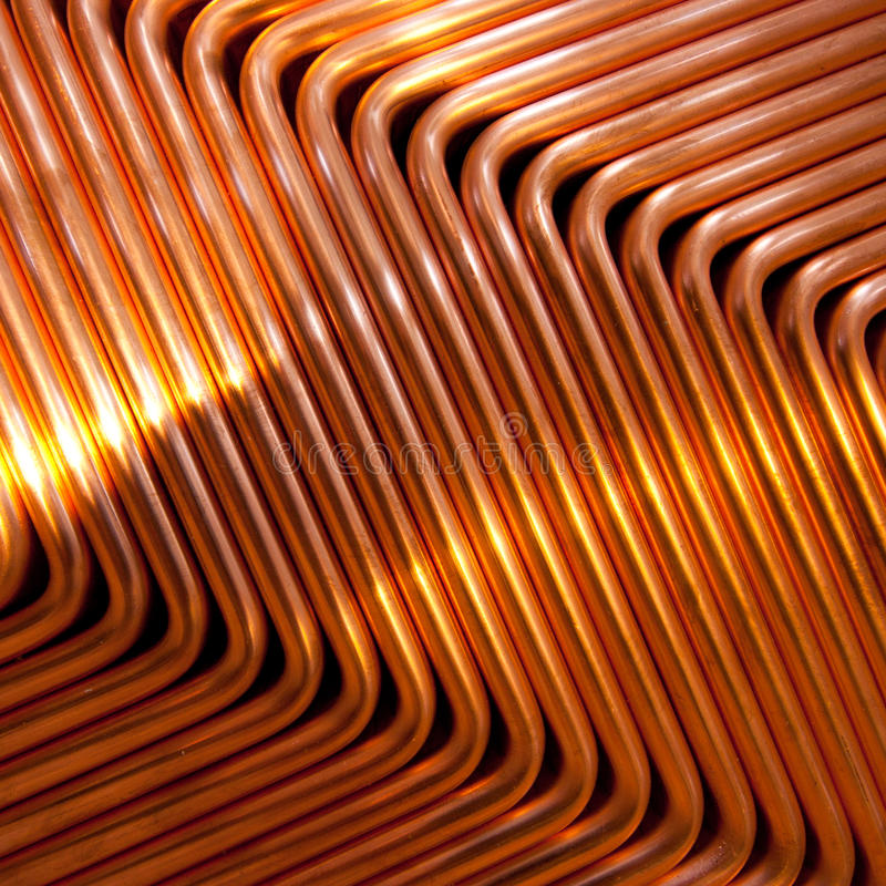 Red copper. Photo of red copper, abstract pattern royalty free stock photos