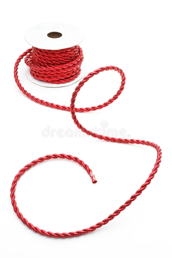 Red Cord On A Reel Stock Image