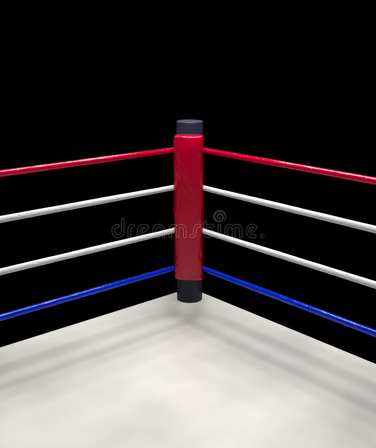 Free Red Corner Boxing Ring Background 3d Render Stock Image - 68771961