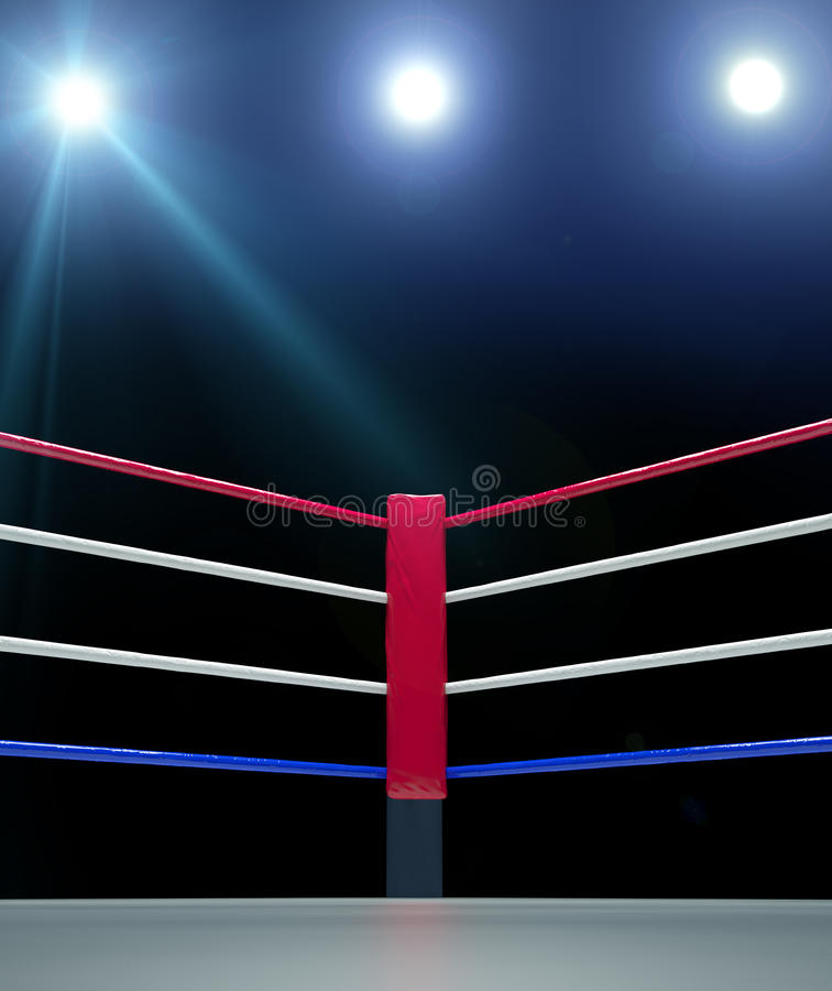 Free Red Corner Boxing Ring Background 3d Render Royalty Free Stock Photography - 68772037