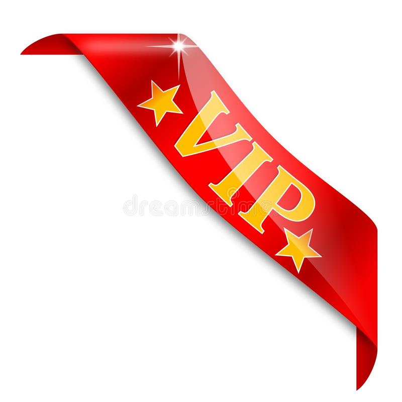 Free Red Corner Labeled VIP Royalty Free Stock Photo - 40378905