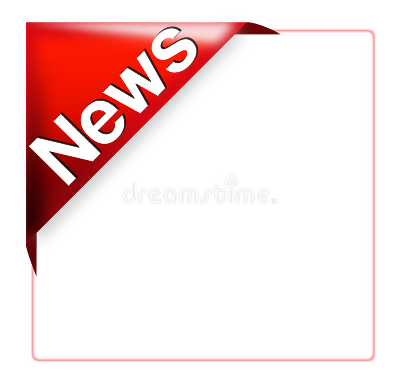 Download Red Corner Ribbon With News Sign Stock Illustration - Image: 11760063