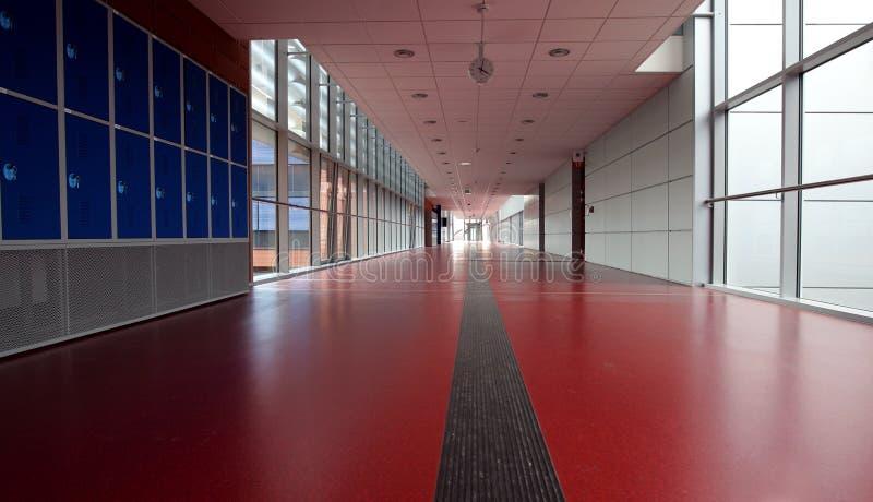 Red corridor stock photos