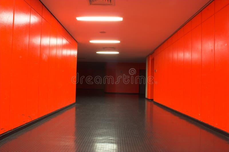 Red corridor stock photography