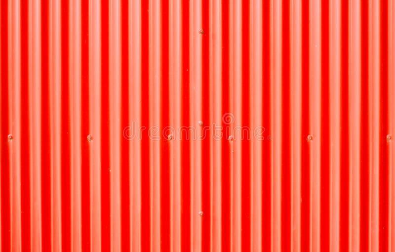 Red corrugated metal stock image