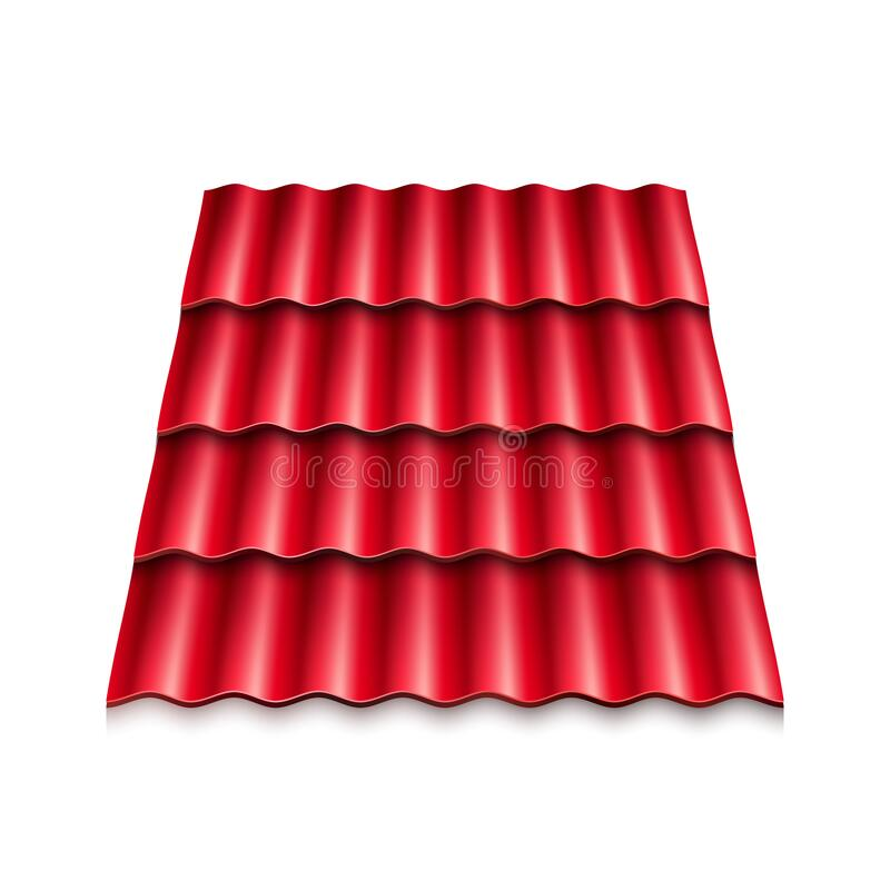 Modern Roof Coverings Corrugated Roof Tile Vector Illustration Isolated On White Background Stock Vector Illustration Of Isolated Protection 179829165