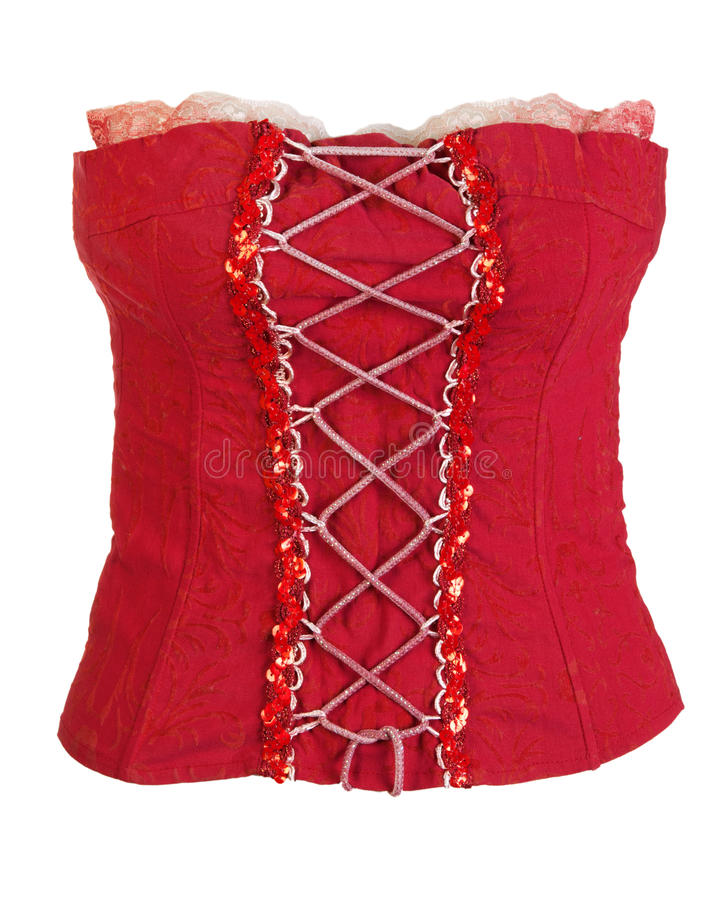 Free Red Corset Female Stock Image - 18520511