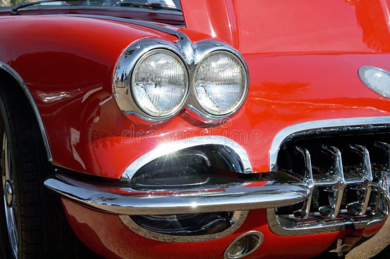 Red Corvette stock image