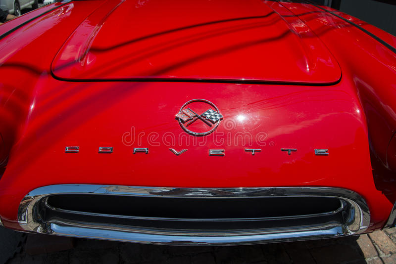 Red Corvette royalty free stock photography