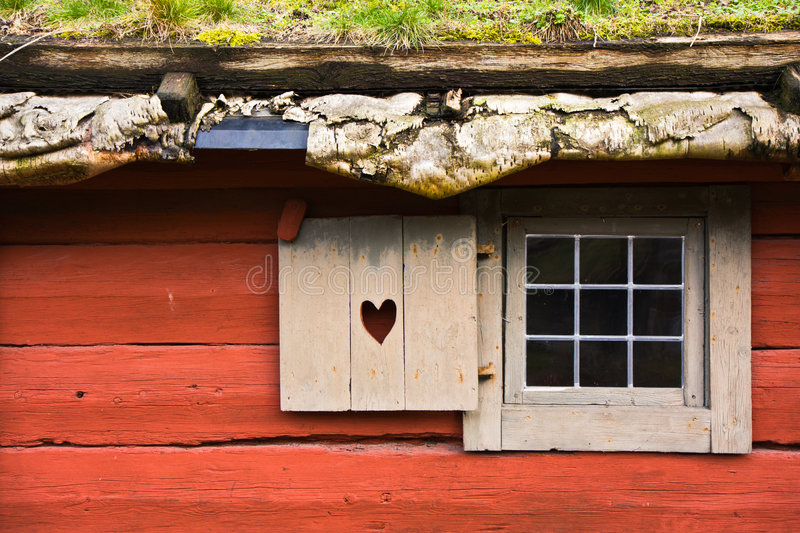 Red cottage royalty free stock photography