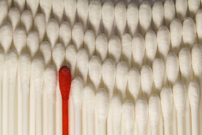 Download Red cotton bud. stock photo. Image of leader, apart, white - 23882150