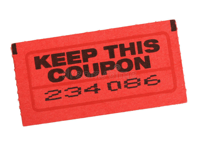Download Red coupon ticket stock photo. Image of text, black, white - 16533480