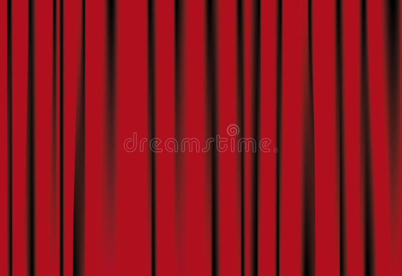 Red courtains stock illustration