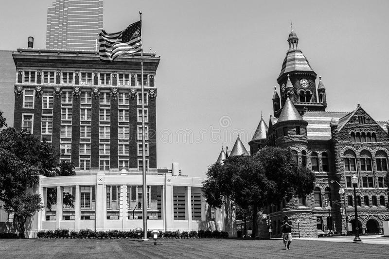 The Red Courthouse on Dealey Plaza royalty free stock image