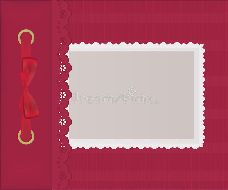 Download Red cover for an album stock vector. Image of frame, design - 19195717
