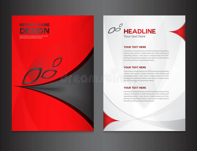 Red Cover Annual report design vector illustration vector illustration