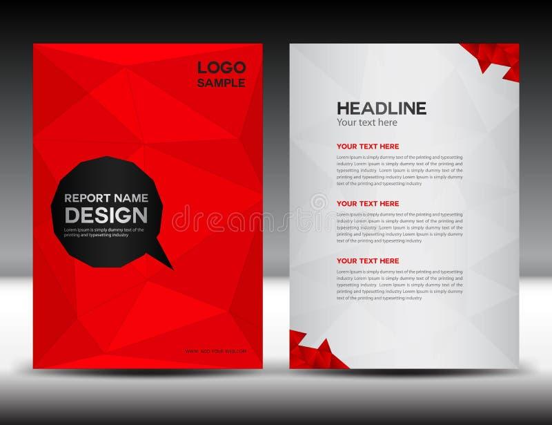 Red Cover Annual report design vector illustration stock illustration
