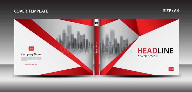 Red Cover design template for magazine, ads, presentation, annual report, book, leaflet, poster. Catalog, printing media, newsletter, business brochure flyer stock illustration