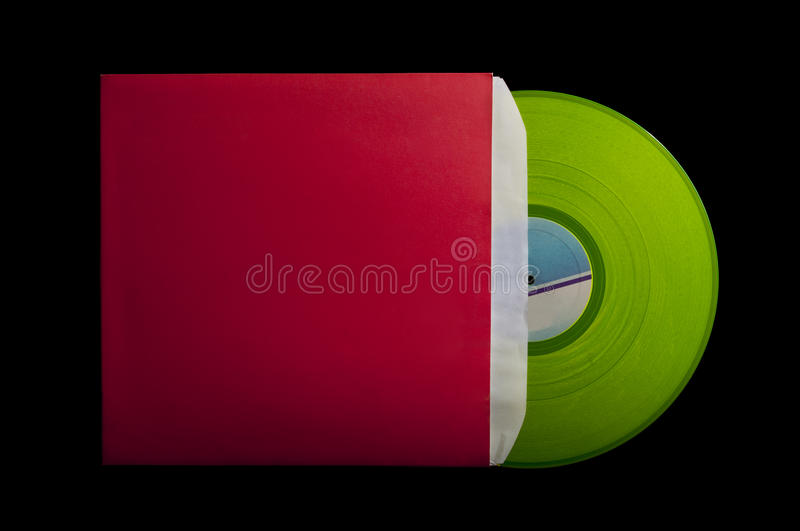 Red cover with green vinyl stock photography
