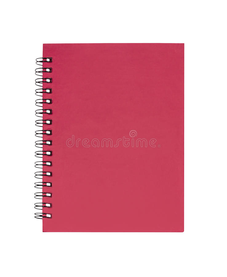Red cover note book isolated royalty free stock photos