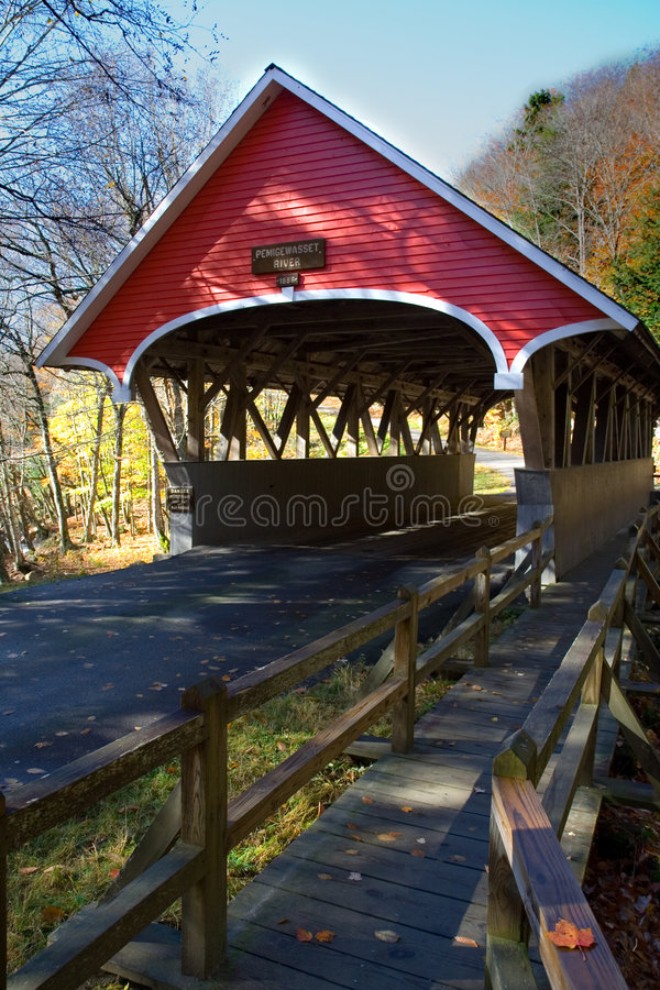 Red Covered Bridge stock image