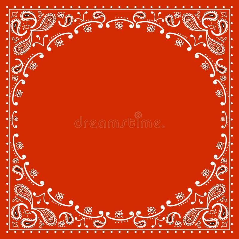 Red cowboy bandanna. Vector illustration