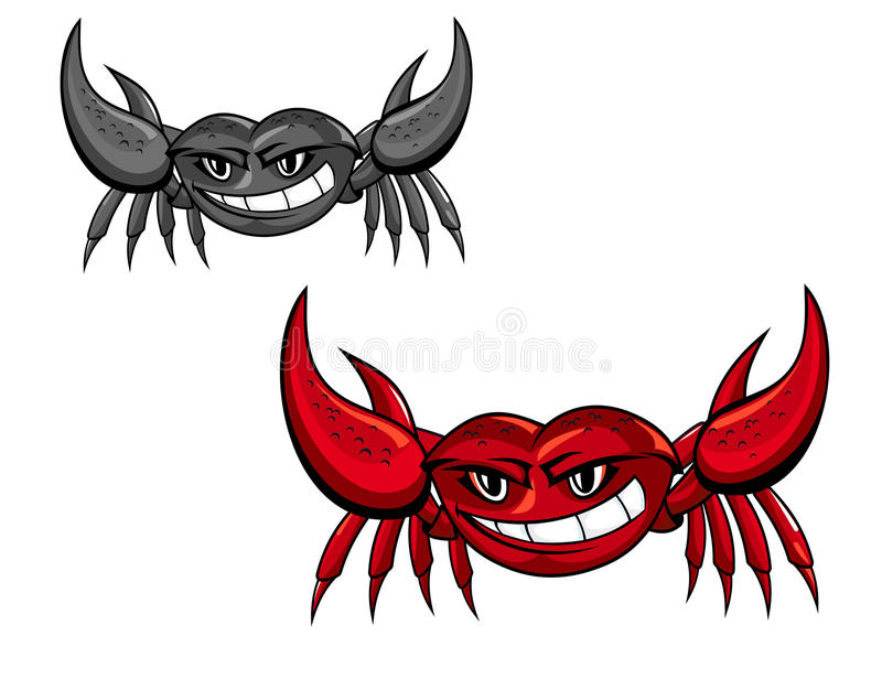 Download Red crab with claws stock vector. Illustration of gourmet - 20853901