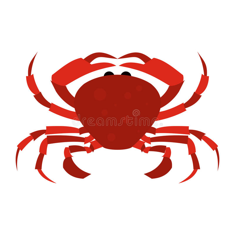 Red Crab icon vector illustration