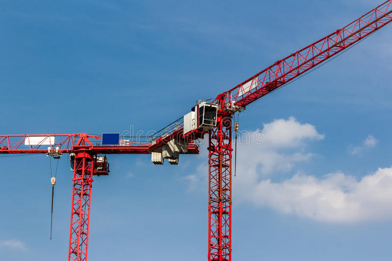 Download Red Crane on Blue Sky stock photo. Image of beginning - 33259324