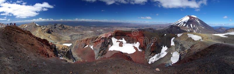 Red Crater - Tongariro stock photo