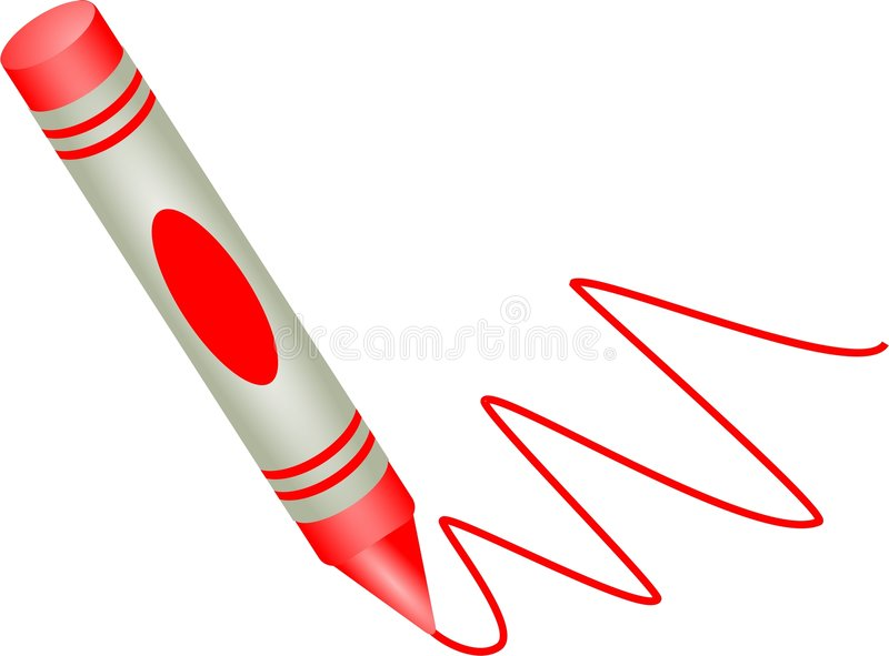 Red crayon stock illustration