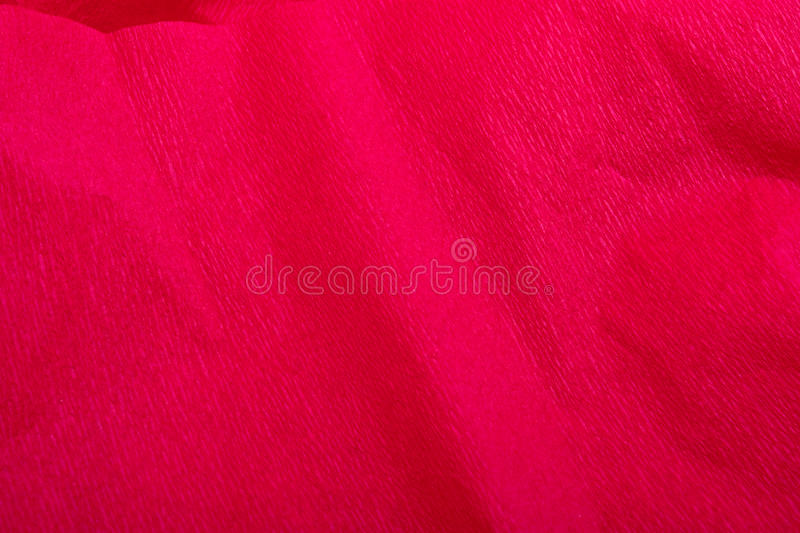 Red Crepe Paper Christmas Background / Texture Stock Image