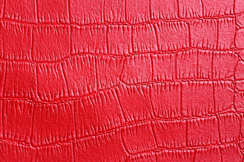 Red crocodile texture skin stock images