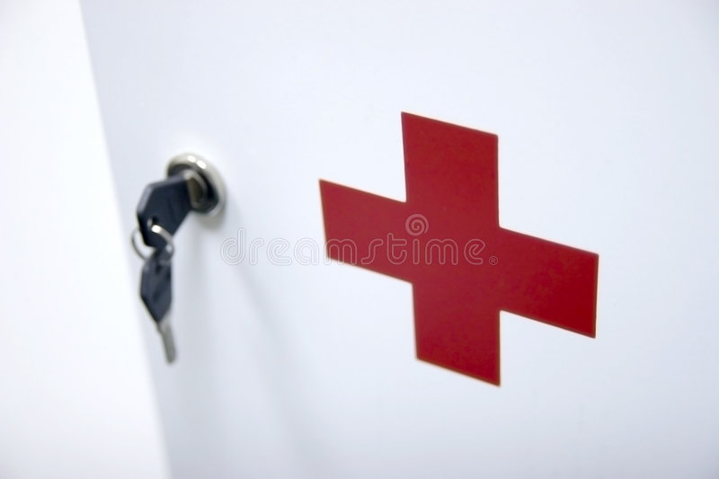 Red cross stock photography