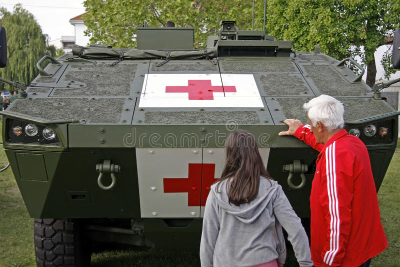 Red cross royalty free stock photography